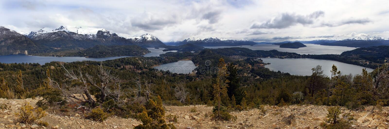 Otoczenie Bariloche Park Narodowy Nahuel Huapi zdjęcia stock