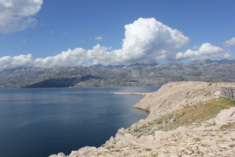 Otok PAG fotografie stock