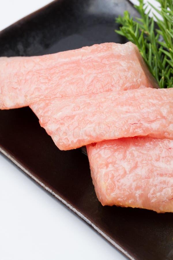 Otoro sashimi with decorate at restaurant royalty free stock image