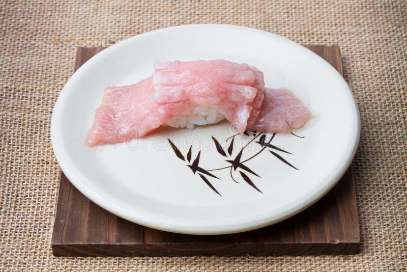 Otoro sashimi with decorate at restaurant stock photos