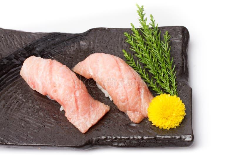 Otoro sashimi with decorate at restaurant royalty free stock images