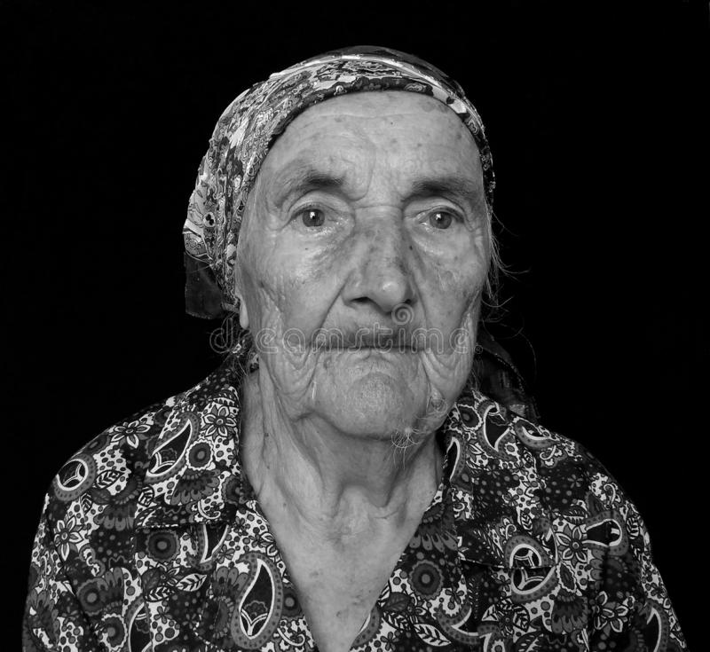 Otra abuela Evgeniia del retrato imagenes de archivo