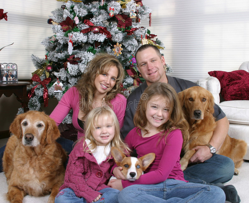 Otra Navidad de la familia foto de archivo