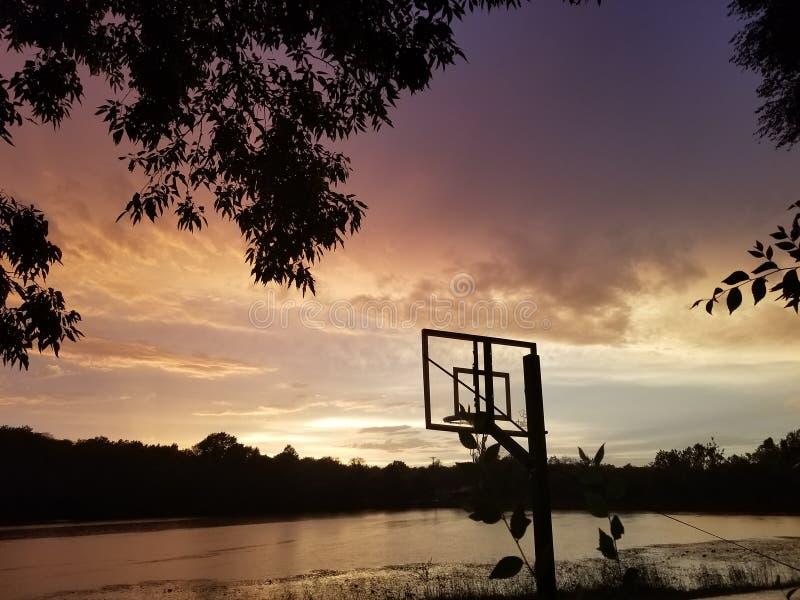 Otra puesta del sol sobre el lago imágenes de archivo libres de regalías
