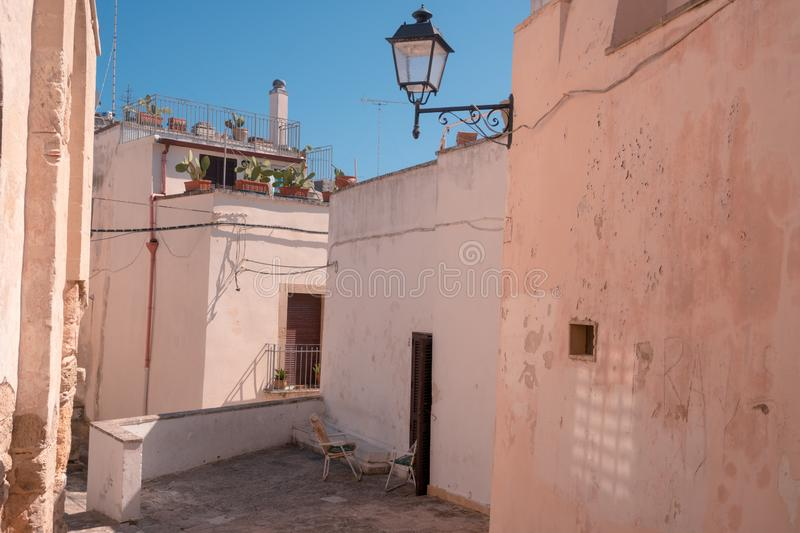 Otranto, Italy 15 August 2019: An awesome view of Otranto old town during the summer royalty free stock photography