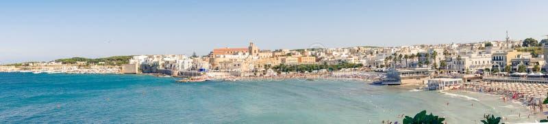 Otranto, Italy 15 August 2019: a panoramic view of Otranto and a near beach stock photos