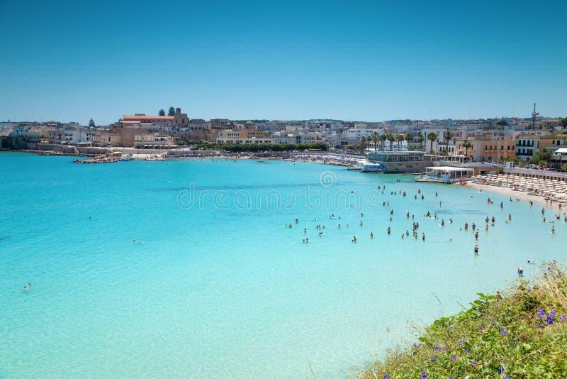 Otranto miasteczko w Puglia Włochy zdjęcia royalty free