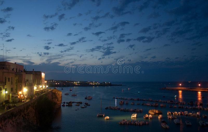 Otranto seaport stock photography