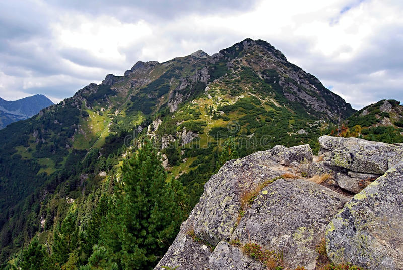 Otrhance (Osarpance) mountain range in Zapadne Tatry mountains. Otrhance (or Osarpance) mountain range from Nizna Magura mountain peak in Zapadne Tatry mountains royalty free stock image