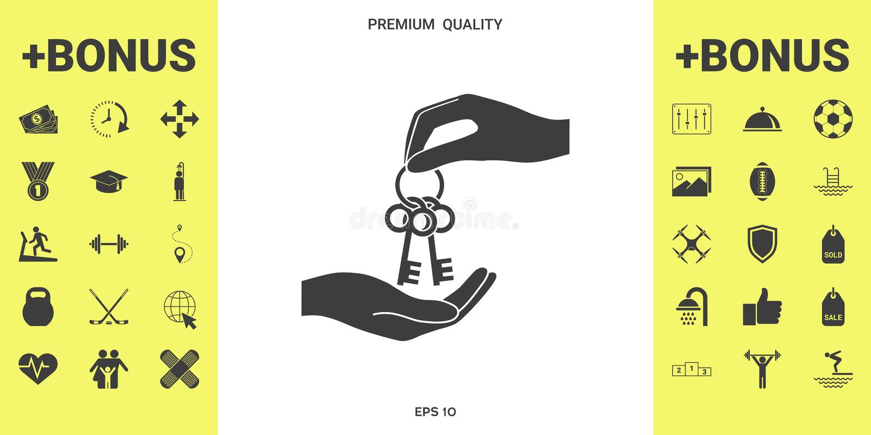 Otrzymywający wiązkę klucze - ikona royalty ilustracja
