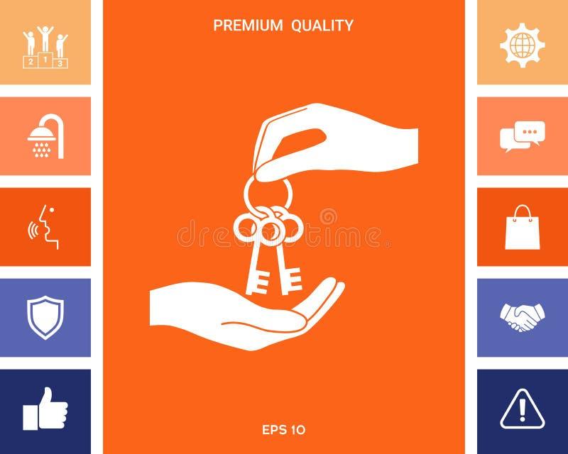 Otrzymywający wiązkę klucze - ikona ilustracji