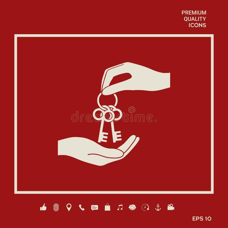 Otrzymywający wiązkę klucze - ikona Graficzni elementy dla twój projekta ilustracja wektor