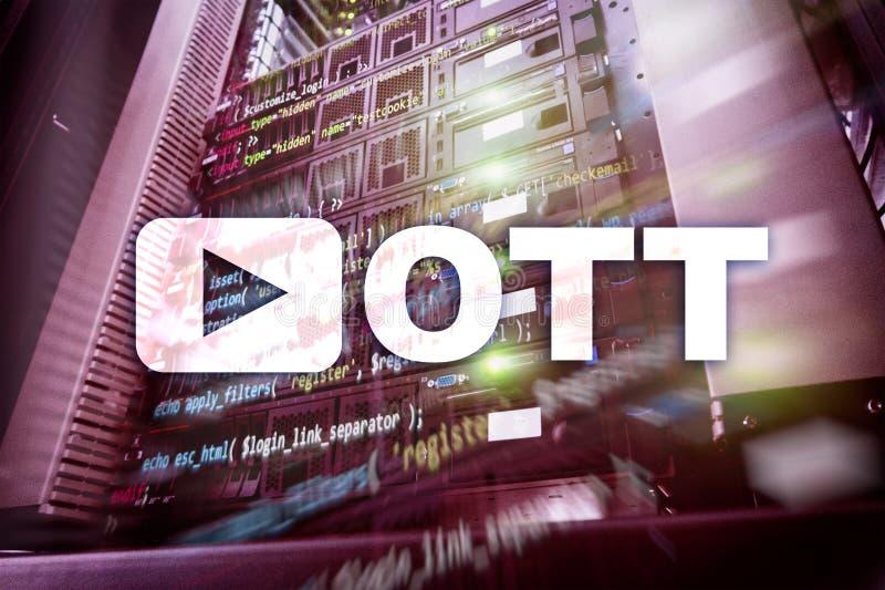 OTT, IPTV, βίντεο που ρέει μέσω του Διαδικτύου στοκ φωτογραφία