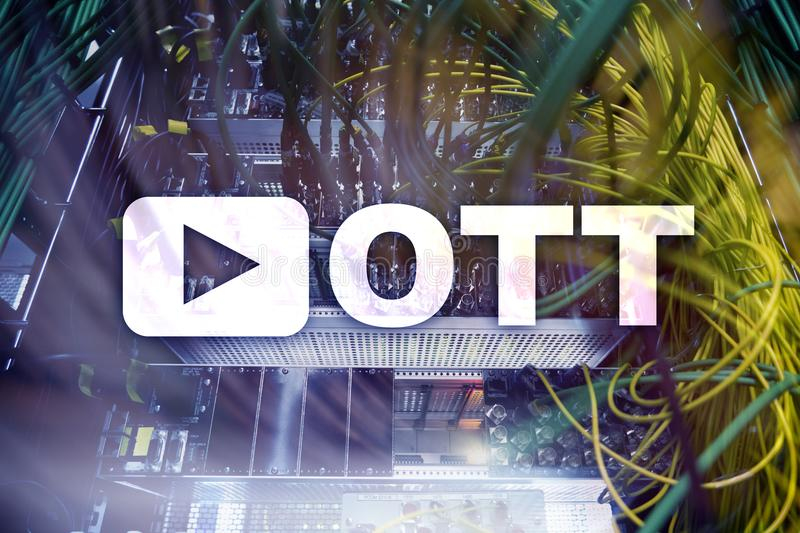 OTT, IPTV die, video over Internet stromen royalty-vrije stock foto