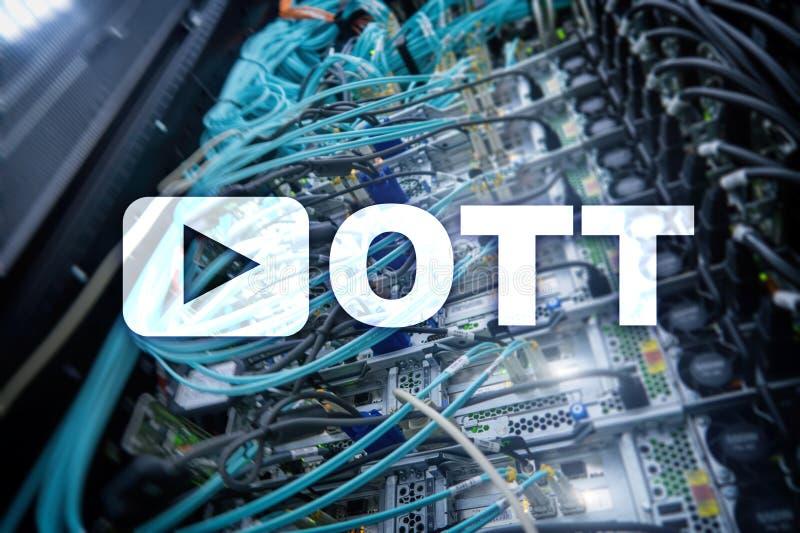 OTT IPTV, video som strömmar över internet royaltyfri bild