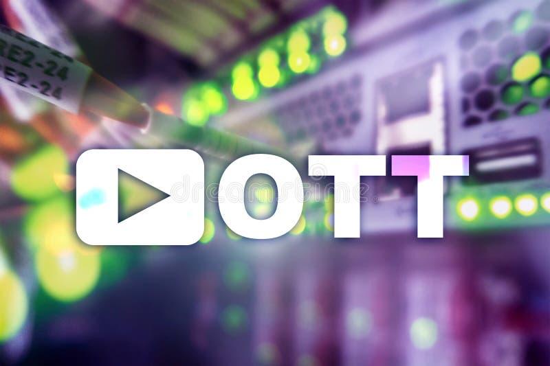 OTT IPTV, video som strömmar över internet arkivfoton