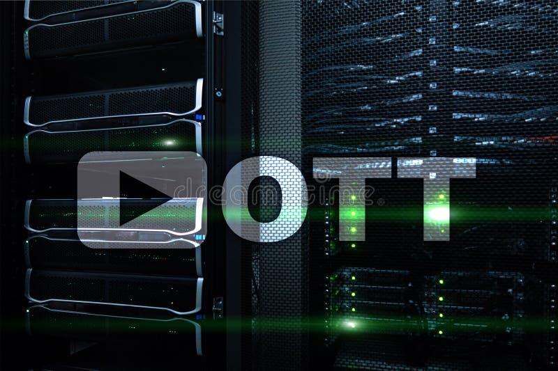 OTT, IPTV, video streaming over the internet. royalty free stock photos