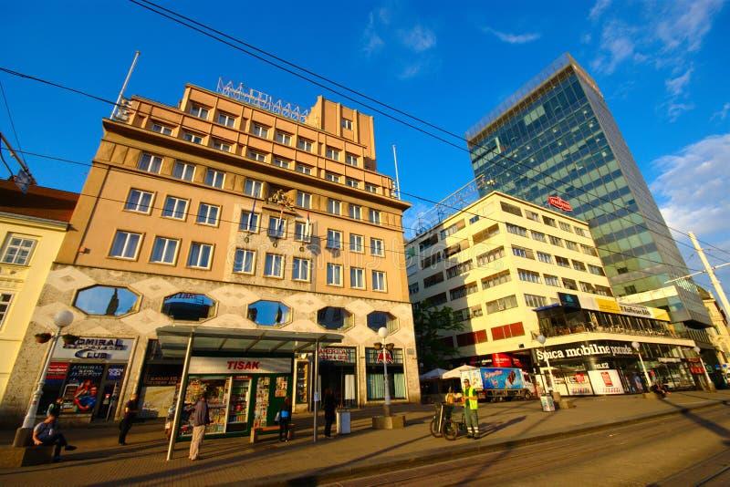 Otta i staden, Zagreb, Kroatien arkivfoton