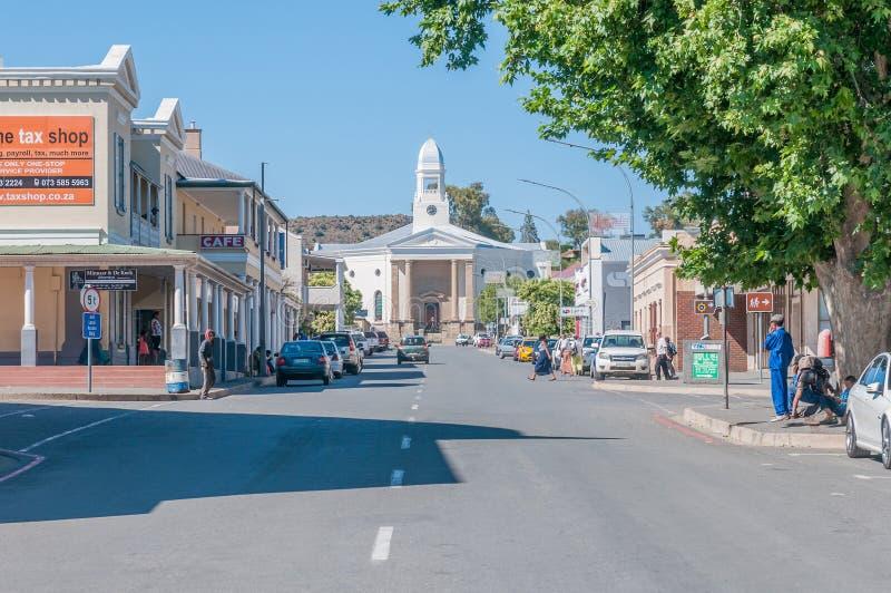 Ottagataplats i Colesberg, Sydafrika royaltyfri bild