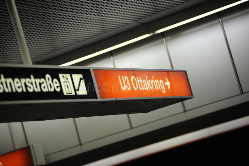Ottakring U3 - Subway station royalty free stock photo