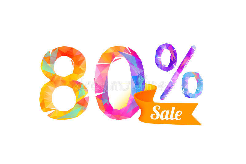 80 ottanta per cento di vendita royalty illustrazione gratis