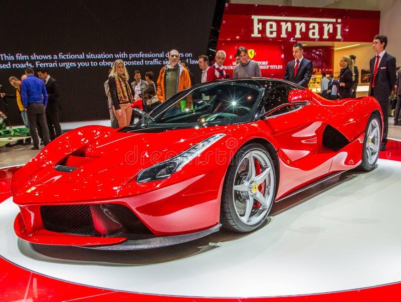 ottantatreesimo Ginevra Motorshow 2013 - La Ferrari di Ferrari fotografia stock libera da diritti