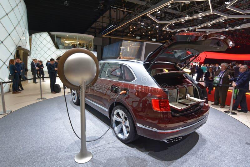 ottantottesimo salone dell'automobile internazionale di Ginevra 2018 - Bentley Bentayga Hybrid fotografia stock
