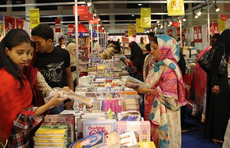Ottava fiera di libro internazionale di Karachi degli ospiti fotografia stock libera da diritti