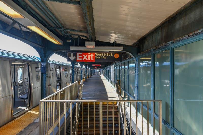 Ottava stazione della metropolitana ad ovest della via - New York fotografia stock