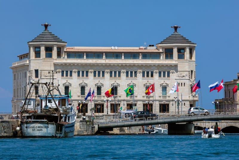 Ottavino di Oporto in Ortigia, Siracusa, Sicilia, Italia fotografie stock libere da diritti