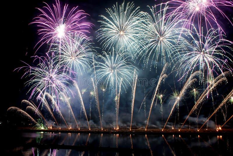 Ottavo festival internazionale dei fuochi d'artificio della Cina immagine stock libera da diritti