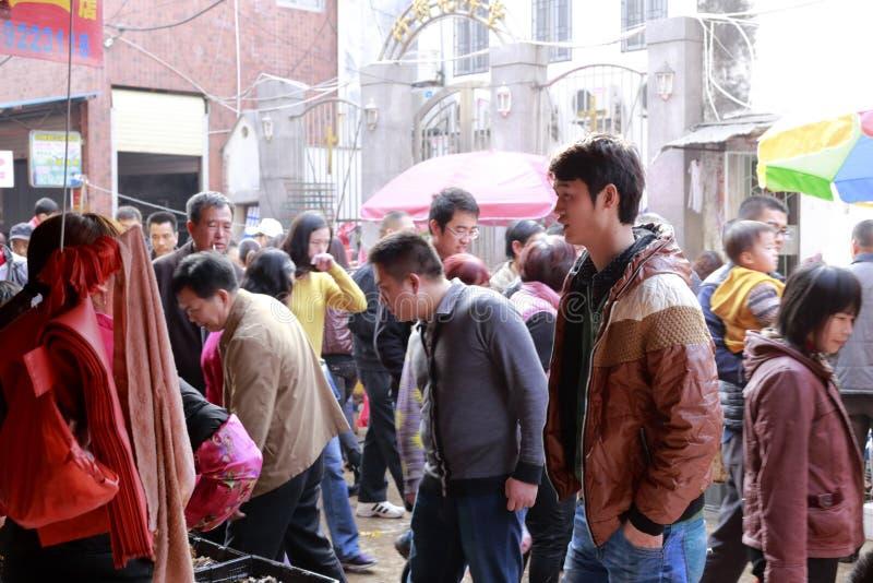 ottavo mercato della città amoy, porcellana fotografie stock libere da diritti