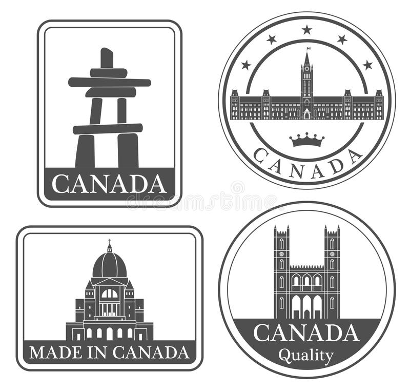 Ottawa abstrata ilustração stock