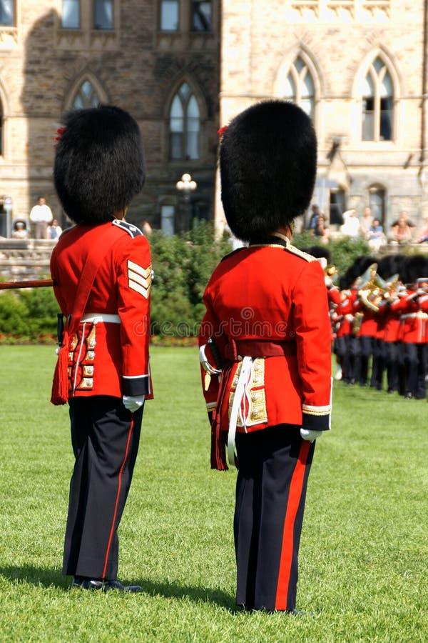 Changement de la garde à Ottawa, le Canada images libres de droits