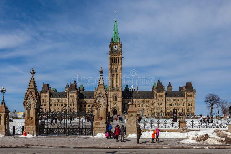 Ottawa CANADA - February 17, 2019: Federal Parliament Building of Canada in Ottawa, North America stock images