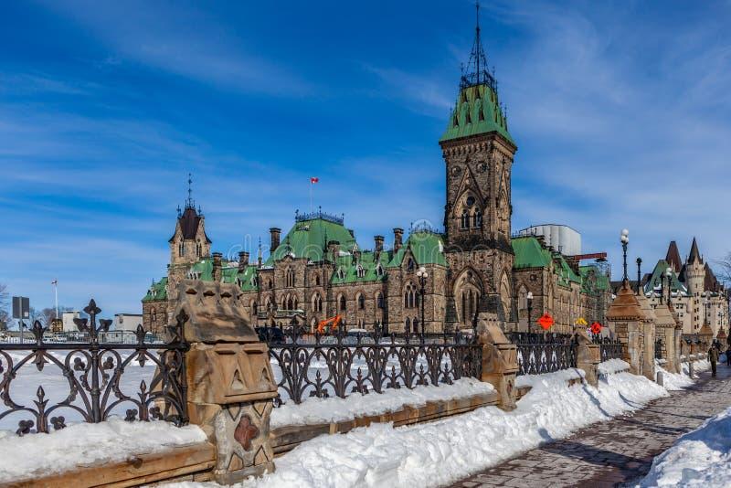 Ottawa CANADA - February 17, 2019: Federal Parliament Building of Canada in Ottawa, North America stock photos