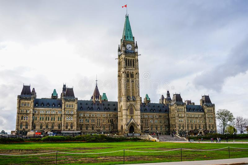 Parliament of Canada building in Ottawa stock image