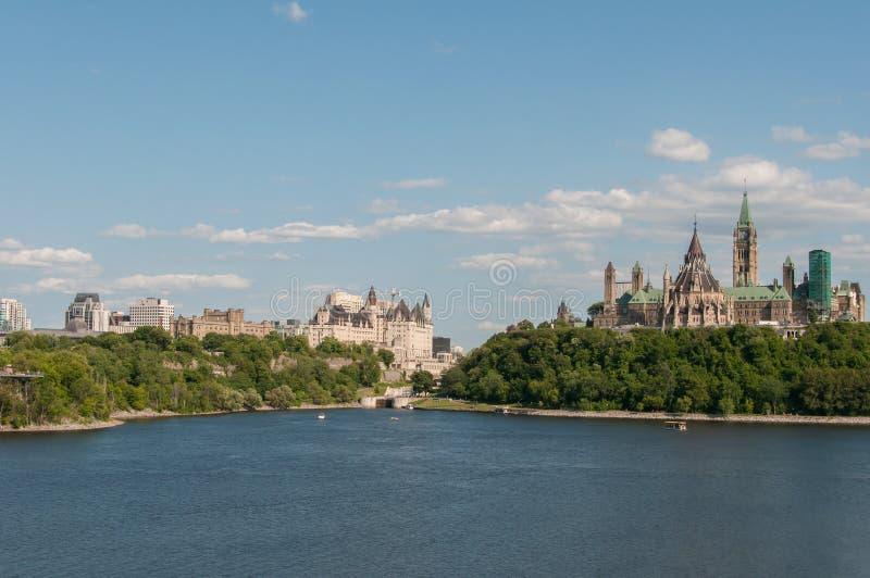 Ottawa est la ville capitale et quatrième plus grande du Canada image libre de droits
