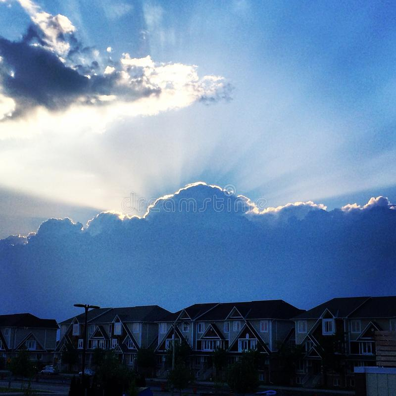 Ottawa himmel arkivfoton