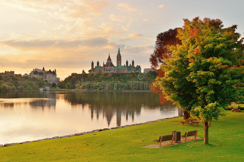 Ottawa morning stock image