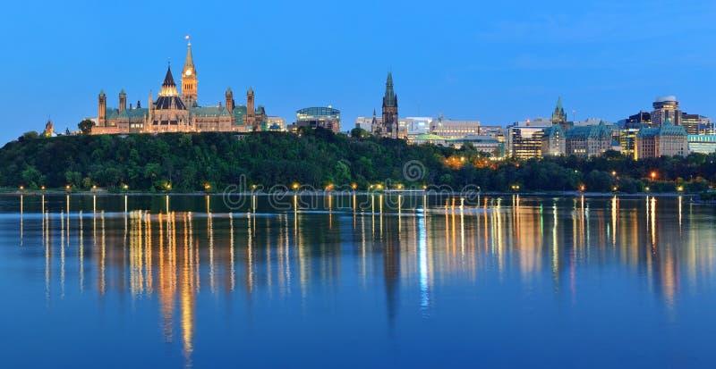 Ottawa at night stock images