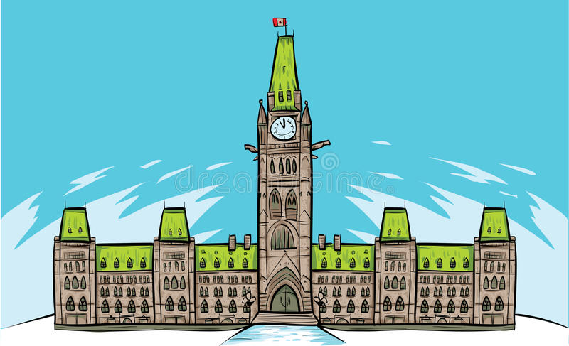 Ottawa parlament wzgórza royalty ilustracja
