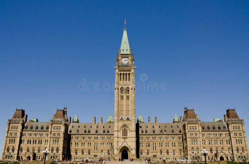 Ottawa Parliament #2. Canadian Parliament Building at Ottawa (Principal Facade royalty free illustration