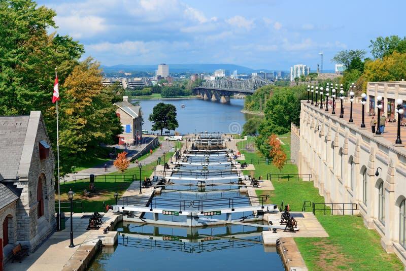 Ottawa Rideau kanal fotografering för bildbyråer