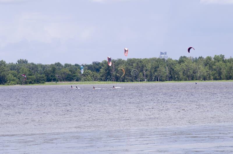 Ottawa rzeki parasailing obraz royalty free