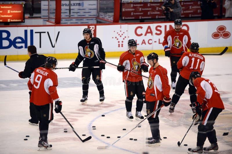 Ottawa senatory otwierają obóz szkoleniowy po NHL lokout obraz stock
