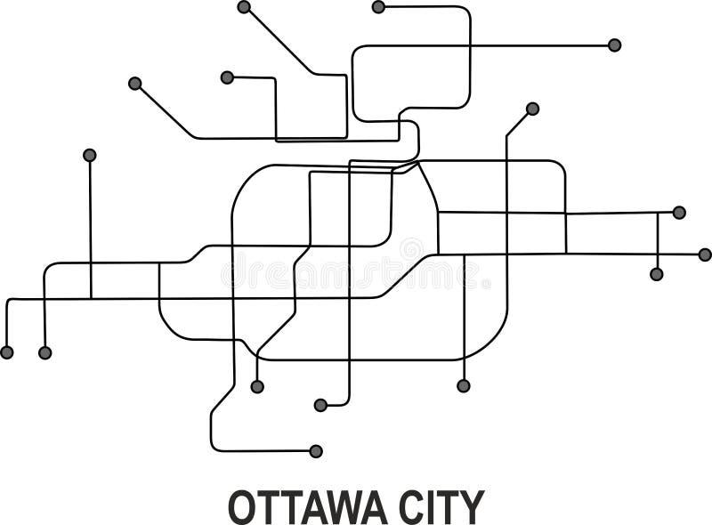 Ottawa stadsöversikt royaltyfri bild