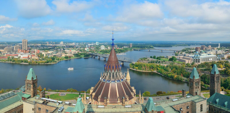 Ottawa-Stadtbild lizenzfreies stockbild