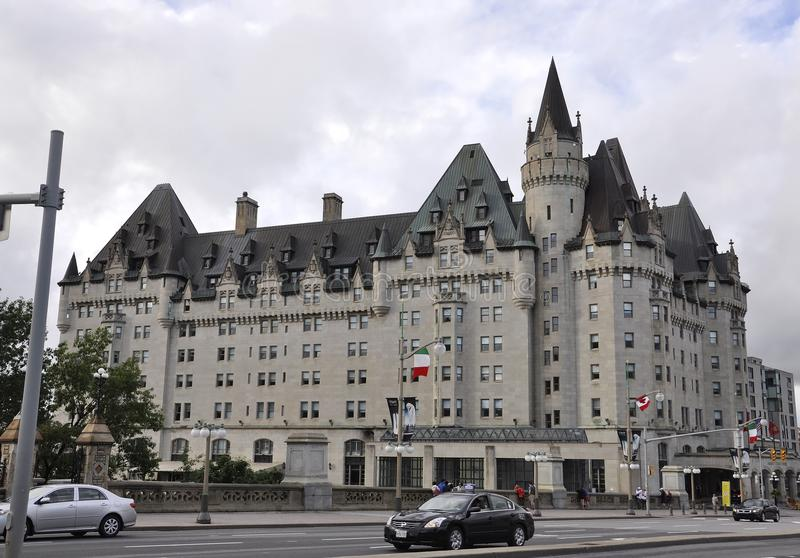 Ottawa, 26th June: Fairmont Chateau Laurier building from Downtown of Ottawa in Canada stock photos