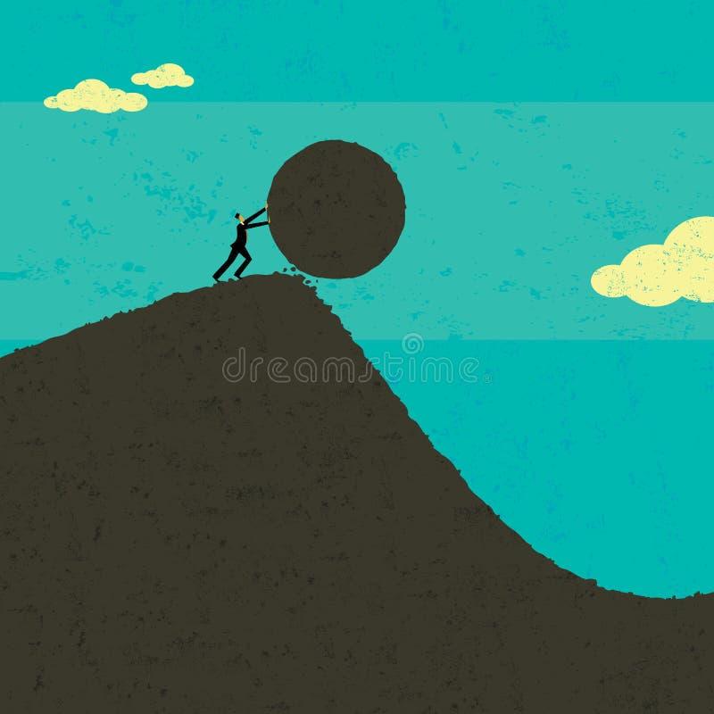 Ottenere il rotolamento della palla illustrazione vettoriale